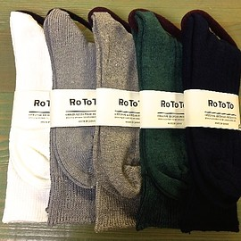 RoToTo - LINEN COTTON RIB SOCKS