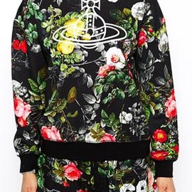 Vivienne Westwood - Image 3 ofVivienne Westwood Anglomania Baggy Oversized Sweatshirt With Orb Logo & Floral Print