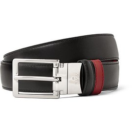 Gucci - 3cm Black and Red Reversible Leather Belt