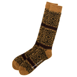 White Mountaineering - Jacquard Knit Arabesque Pattern Socks