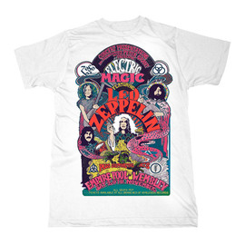 Led Zeppelin - Led Zeppelin Electric Magic White T-Shirt