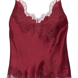 Carine Gilson - Lace-trimmed silk-satin camisole