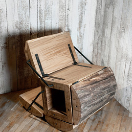 architecture uncomfortable workshop - Waste-less Log Chair
