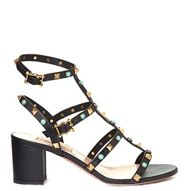 VALENTINO - SS2016 Rockstud Rolling leather sandals