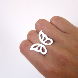 Smiling-Sliver-Smith - Butterfly Ring - Handmade Silver Ring