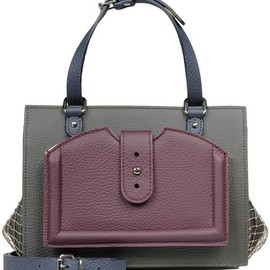 Carven - Carven Small Leather Bag in Purple (dark blue)
