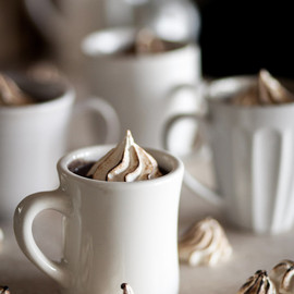 Bourbon Spiked Hot Chocolate - from Chasing Delicious