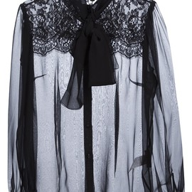 DOLCE & GABBANA - Bow Tie Blouse
