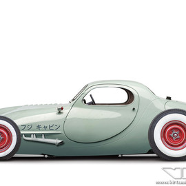 Fuji Cabin Hot Rod | photoshop chop © Sebastian Motsch (2013)
