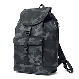 "HEAD PORTER - ""JUNGLE"" RUCKSACK BLACK"