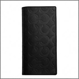 COACH - OP ART EMBOSSED LEATHER BREASTPOCKET WALLET