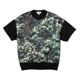 HYKE - CAMO SWEAT HALF SLEEVE SHIRT