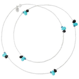Satya Scainetti & Beth Torstrick - Turq/Black Onyx/Blue Topaz Mix Long Necklace,Silver
