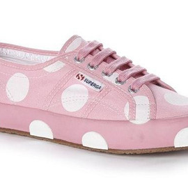 Superga - Superga House of Holland Collaboration Pink Dot Plimsolls