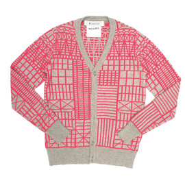 ANREALAGE / アンリアレイジ - BONE FRAME KNIT CARDIGAN (PINK)