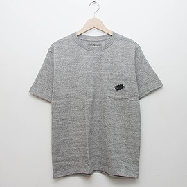 cup and cone - Heavy Cotton Pocket Tee - Grey