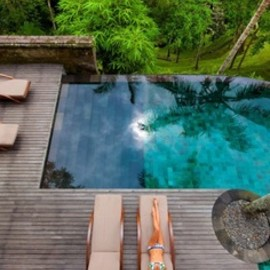 bali,Indonesia - One of several private pools at Como Shambhala Estate