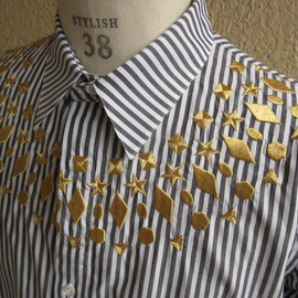.efiLevol - STUDS EMBROIDERED SHIRTS