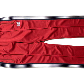NEEDLES - NEEDLES/Narrow Track Pant-Poly Smooth-Red