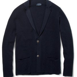 LANVIN - Knitted Cotton Piqué Cardigan