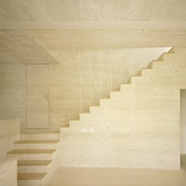 Amunt Martenson & Nagel Theissen Architects - Wooden interior, JustK House, Tübingen, Germany