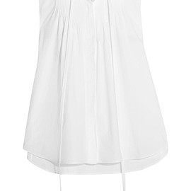 Chloé - Pussy-bow broderie anglaise-trimmed cotton-poplin top