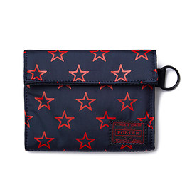 "HEAD PORTER - ""STELLAR-BIG STAR"" WALLET (M) NAVY"