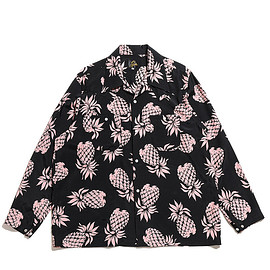 NEEDLES - One Up Cowboy Shirt-Rayon C Sateen/Pineapple-Black