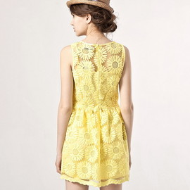 PAZZO- taiwan - yellow sunflower dress