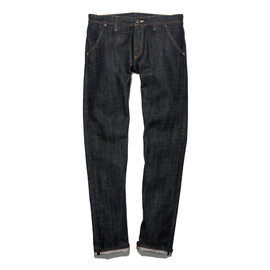 uniform experiment - SLIM-FIT UNDISCOLORATION DENIM JEANS (RIGID)