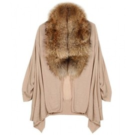 Alice + Olivia -  Izzy Fur Collar Cardigan
