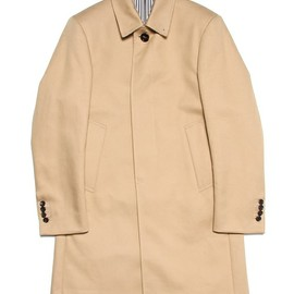 THOM BROWNE - Ball Collar Overcoat