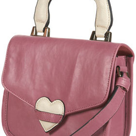 TOPSHOP/TOPMAN - Pink Padded Heart Bag