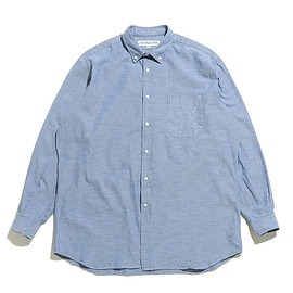 INDIVIDUALIZED SHIRTS - LOFTMAN別注 Oversized BD Shirts-Blue