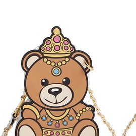 MOSCHINO - Teddy Bear Shaped Leather Shoulder Bag