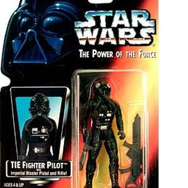 kenner - STAR WARS Power of the Force Tie Fighter Pilot Action Figure with Imperial Issue Blaster Pistol