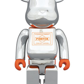 MEDICOM TOY - BE@RBRICK PORTER シルバーメッキ 400%