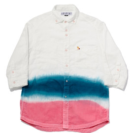 bal - QUARTER SLEEVE GRADATION DYED SHIRT