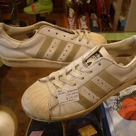 "adidas - 「<used>80's adidas SUPERSTAR white/natural""made in FRANCE"" size:GB5/h(24cm) 7800yen」販売中"