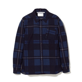 White Mountaineering - CHAMBRAY VIYELLA NAP-RAISED CHECK PRINT SHIRT JACKET