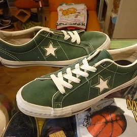 "converse - 「<used>90's converse ONESTAR CANVAS OX green""made in USA"" size:US9(27.5cm) 12800yen」完売"