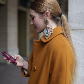street - earring - Paris Couture Week