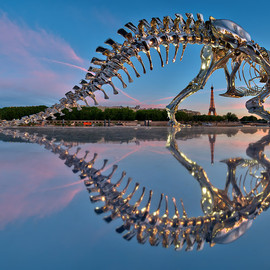 philippe pasqua - full-scale t-rex in paris