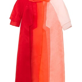 FENDI - Layered silk-organza evening coat