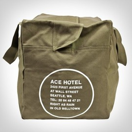 ace hotel - close-up photo of the Ace Hotel Seattle Duffel Bag