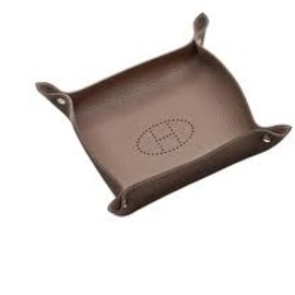 HERMES - Leather  Tray (etoupe)