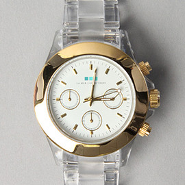 La Mar - The Carpe Diem Watch with Gold Bezel and White Dial