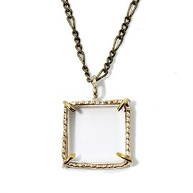 COSMIC WONDER Light Source - HANDMADE CRYSTAL NECKLACE - SQUARE TYPE