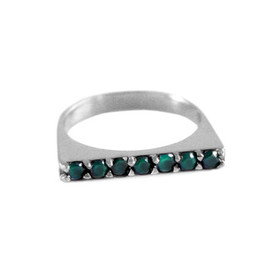 TOMTOM - Green Agate Stack Ring