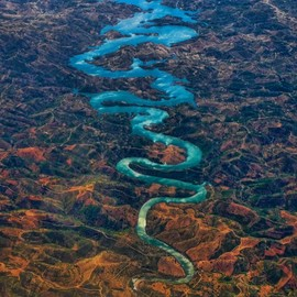 Odeleite River .Portugal - Blue Dragon